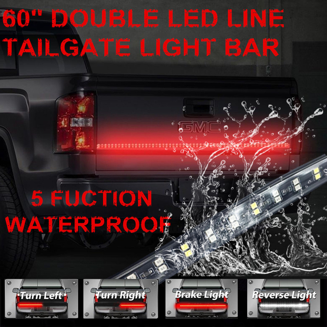 60 double row led truck tailgate light bar strip redwhite reverse 60 double row led truck tailgate light bar strip redwhite reverse stop aloadofball Image collections