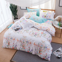 KELUO Brand 100 Cotton Bedding Set Bird Flower Pattern Printed Double FULL Queen Size Bedding Set