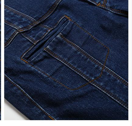 Fall Spring Fashion Women High Waisted Buttons Stretch Tassel Blue Denim Flare Jeans , Autumn Elastic Jeans Trousers For Woman - 4