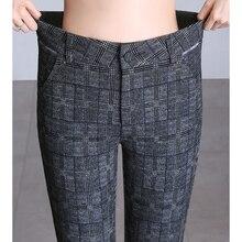 Осень Зима Европейский стиль женские брюки Клетчатые Шерстяные и смешанные Женские винтажные английские Капри размера плюс S-6XL шаровары