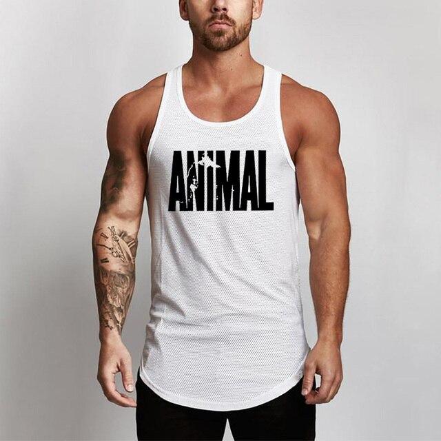 Summer Brand Fitness Tank Top Men Bodybuilding 2021 Gyms Clothing Fitness Men Shirt slim fit Vests Mesh Singlets Muscle Tops 4