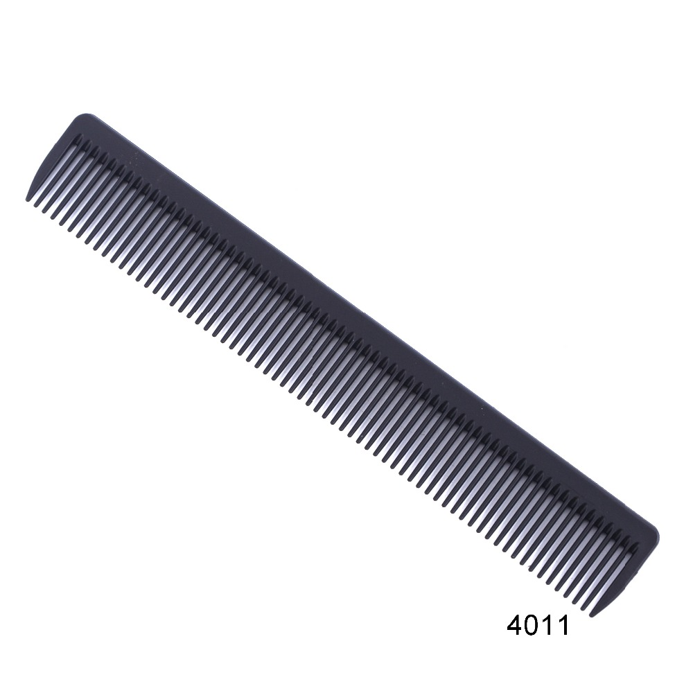1 pc/set Black Professional Combs Hairdressing New Tail Comb Two Carbon Anti Static Comb Hair Cutting Comb Set(China)