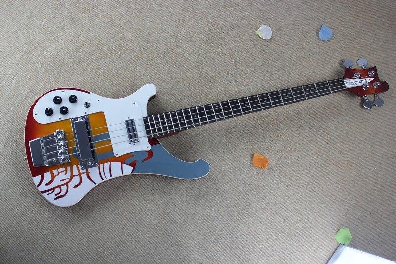 En gros de Haute Qualité Corée Du Sud accessoires importés Gaucher 4 Cordes 4003 Rick sunburst Couleur guitare Basse-7-17