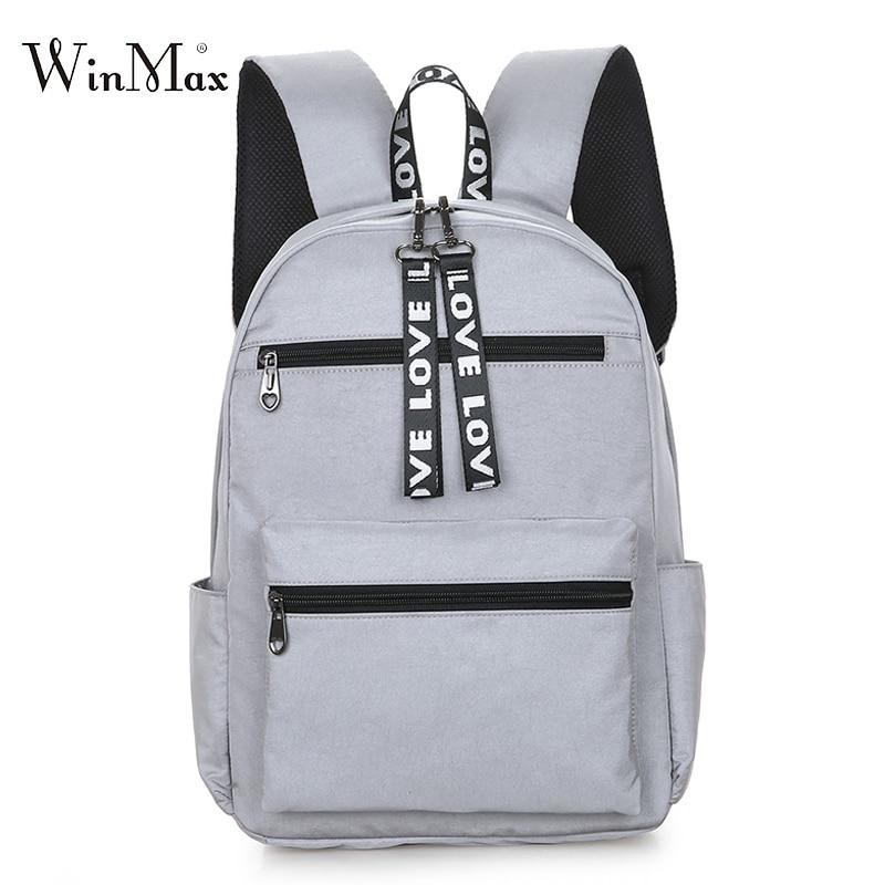 2019 New Campus Women Backpack School Bag For Teenagers College Backpacks Gilrs Female Bagpack Back Packs Bolsas Mochila Zipper