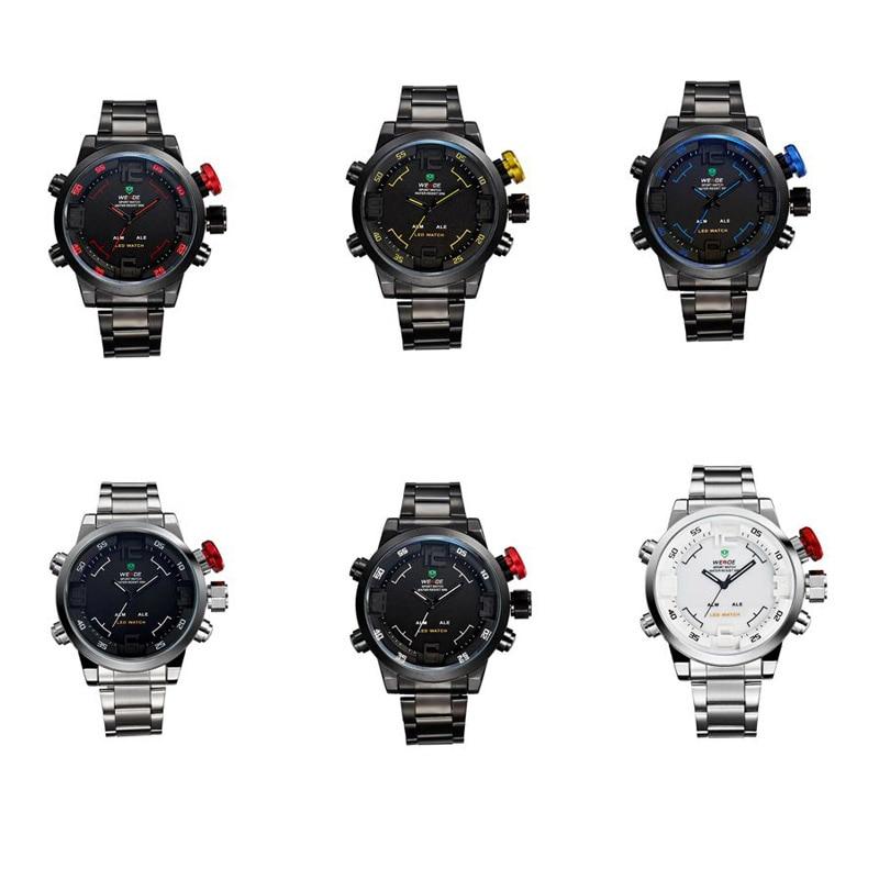 Multi Function Quartz Digital Date Mens Military Sport Wrist LED Watch Business Watches Men Brand Luxury Relogio Masculino Saat  недорого