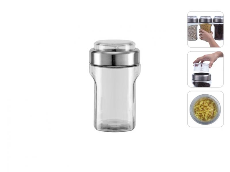 Емкость для сыпучих продуктов NADOBA, Petra, 1,55 л, с мерным стаканом емкость для сыпучих продуктов с мерным стаканом nadoba otina