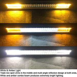 Image 4 - 22 אינץ 324W Led Offroad בר אור עבור לבן ענבר מבול ספוט קומבו קורות לאדה ניבה 4x4 מכביש טרקטורונים עוזה SUV משאיות Barra אורות