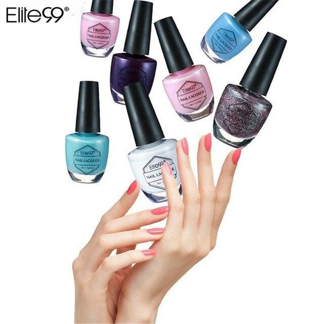 Elite99 10 ml Laca Do Prego Manicure Esmaltes de Secagem Rápida 59 Cores Disponíveis Unha Vernizes de Unhas para a Arte Stamping