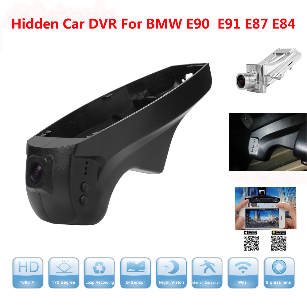 Hidden Car DVR For BMW Car low spec E90 E91 E87 E84 Bracket 1080P Full HD Dash Cam Video Recorder Camera DVR Dash Cam Blackbox hidden car dvr for porsche panamera cayenne macan boxter wifi camera video recorder dash cam black box camcorder full hd 1080p