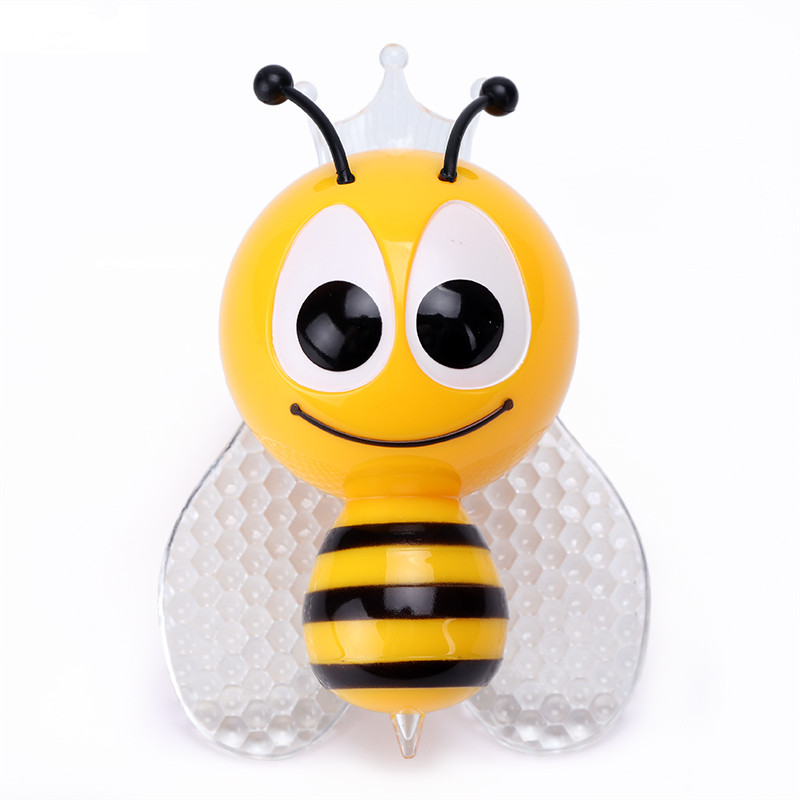 Bee Night Light PIR Colorful Cute Insect Wall Lamp With Sensor Emergency Night Lamp RGB LED Decoration Children Bedroom Light remote control colorful cartoon led decoration night light