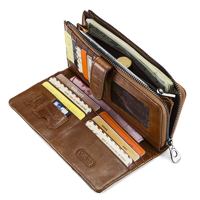 Genuine Leather High Quality Long Wallet