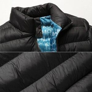 Image 4 - VISADA JAUNA 2019 남성 다운 코튼 자켓 코트 솔리드 컬러 브랜드 와일드 패딩 가을 겨울 남성 패션 빅 사이즈 6XL N5107