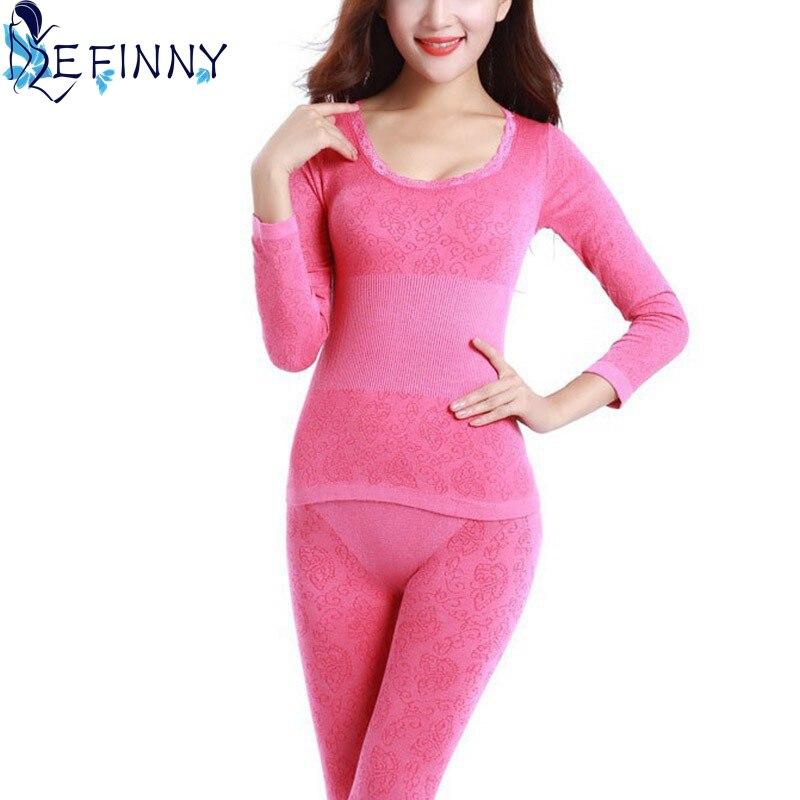 fe69b95ae86a 2018 Women Tunic Winter Thermal Underwears New Fashion Seamless Breathable  Warm Long Johns Ladies Slim Underwears