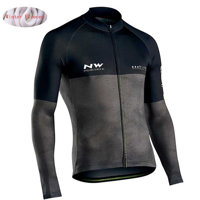 NW 2019 Pro team Men Cycling Jackets Winter Thermal Fleece Jersey Bicycle Cycling Warm MTB Bike Clothing Jacket northwave