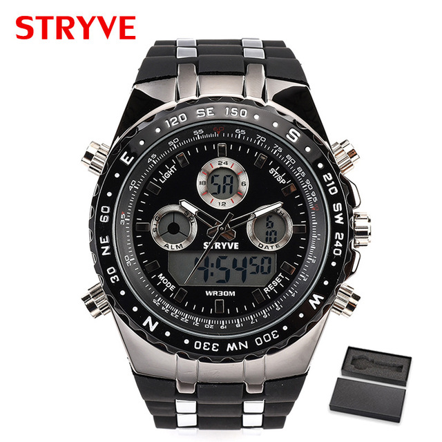 Free Shipping STRYVE Watches Men Sports Digital Watch Men's Military Business Watches LED Wristwatches Clock Relogio Masculino