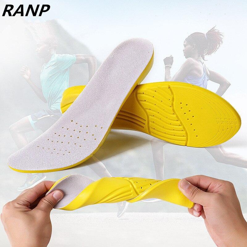 Пены памяти Стельки амортизация ортопедическая плоским palmilha для Для мужчин и Для женщин удобные массажные арки Поддержка обуви Подставки