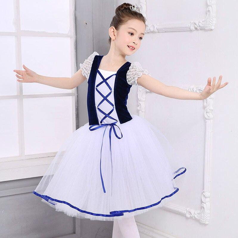 new-romantic-tutu-giselle-swan-lake-font-b-ballet-b-font-costumes-girls-child-long-tulle-dance-skating-ballerina-dress-puff-sleeve-lace-dress
