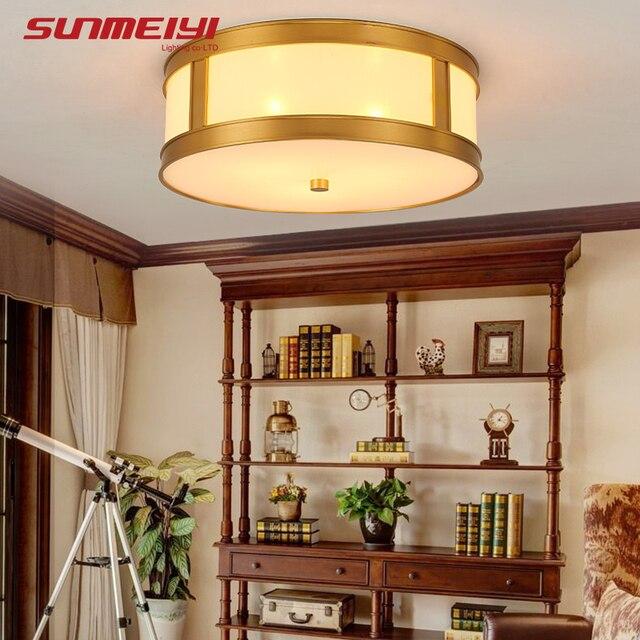 Modern LED Ceiling Lights Luminaria Copper Acrylic Plafondlamp ...