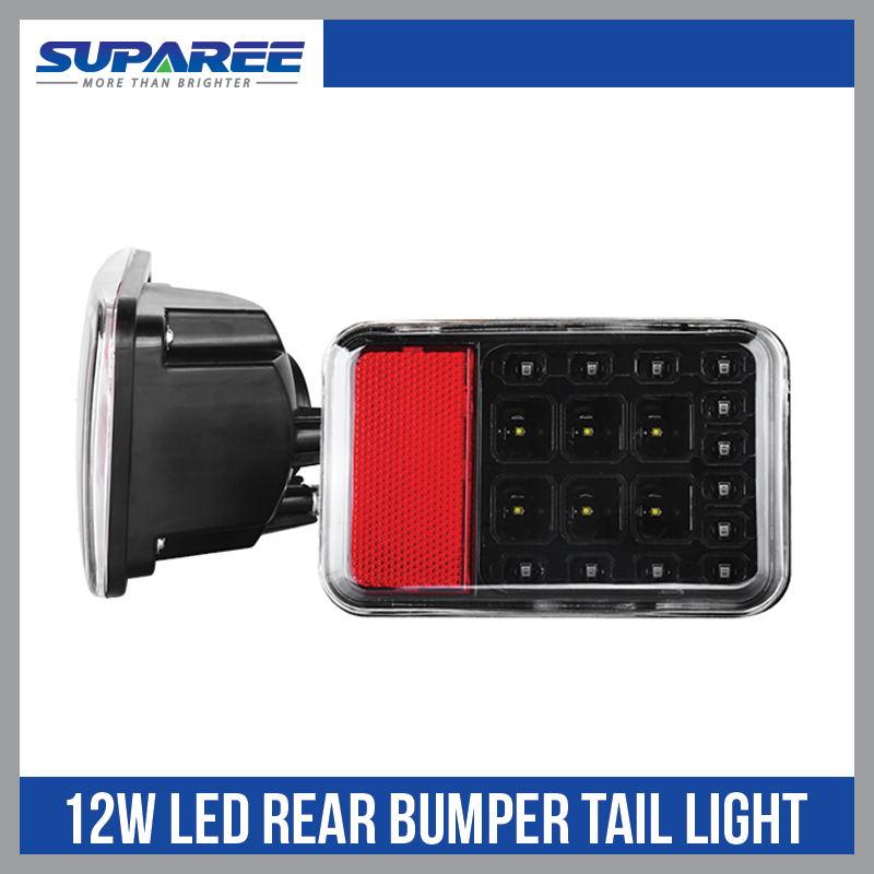 ФОТО 1Pcs 12W LED Reversing Brake Light Rear Fog Lamp Taillight Assembly for Wrangler JK 07-2015