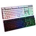Клавиатура Elisona с 108 клавишами в стиле ретро  игровая клавиатура с проводной подсветкой  клавиатура для настольного ПК  Csgo  Overwatch  Lol Gamer