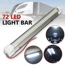 12 В 2,5 Вт 72 светодио дный Авто Ван автобус караван дома свет Бар Газа лампа с вкл/выкл переключатель универсальный автомобильный укладки автомобильные аксессуары