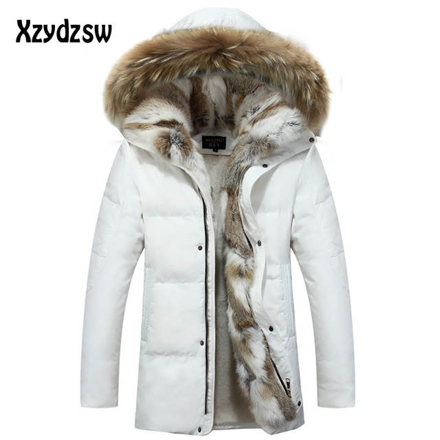 9d53a884b67 2018 New Coat Men Down Jackets Fur Collar Fashion Thick Warm Parka Casual  Snow Men Winter