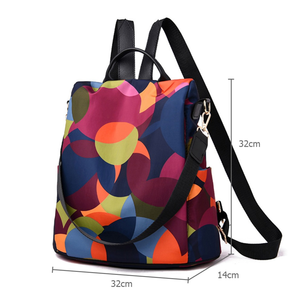 HTB1mWhlbv1H3KVjSZFHq6zKppXaP Casual Oxford Cloth Women Backpack Anti Theft Girls Schoolbags Teenager Travel Daypack Shoulder Bag Colorful Fashion Back Pack