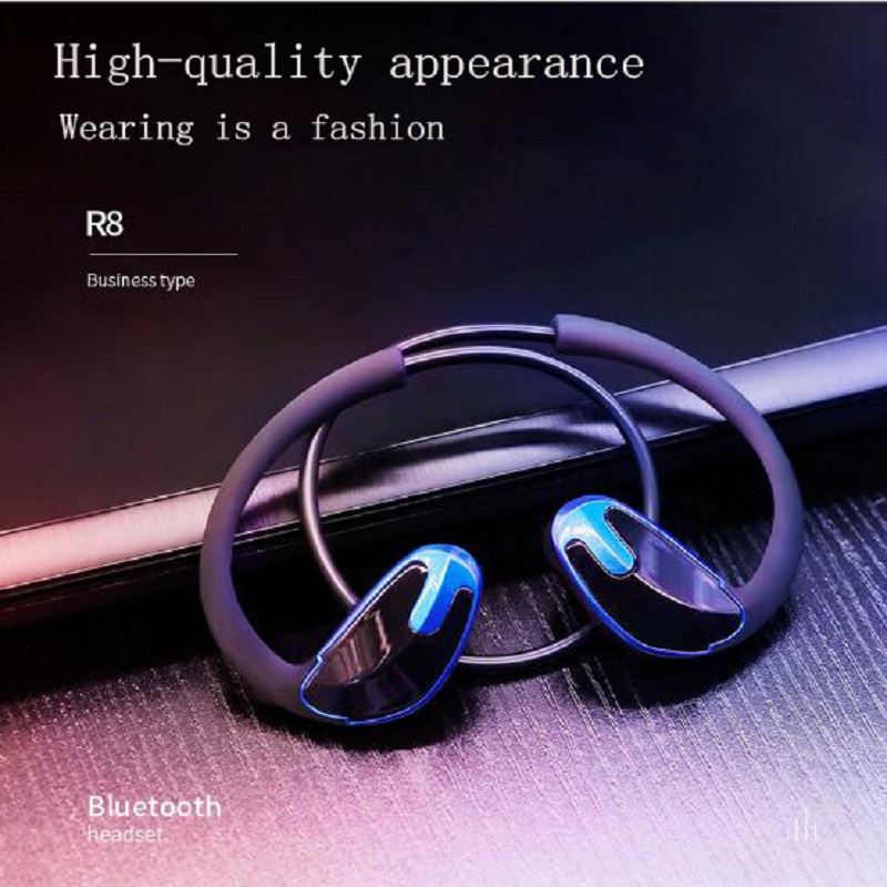 New R8 in-ear noise reduction business headset V4.1 wireless sports stereo CSR Bluetooth headset