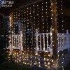 304LED Curtain Icicle String Christmas Fairy Light Garden Wedding Holiday Christams Xmas 110V 220V Outdoor Indoor