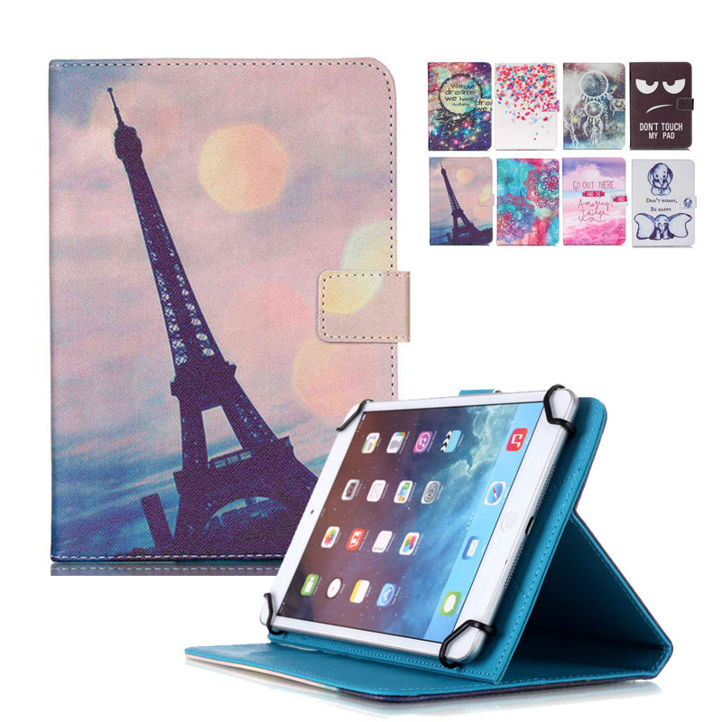 Universal Case for For RoverPad Tesla 10.1 10 9.7 10.1 PU Leather Cover Case For Print Stand Holder +Center Film+pen KF553C case cover for goclever quantum 1010 lite 10 1 inch universal pu leather for new ipad 9 7 2017 cases center film pen kf492a