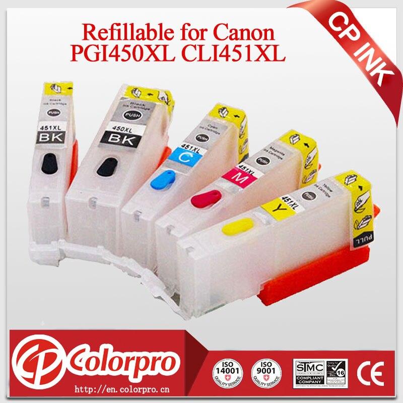 5PK PGI450 CLI451 Doplnitelná inkoustová kazeta pro Canon IP7240 - Kancelářské elektroniky
