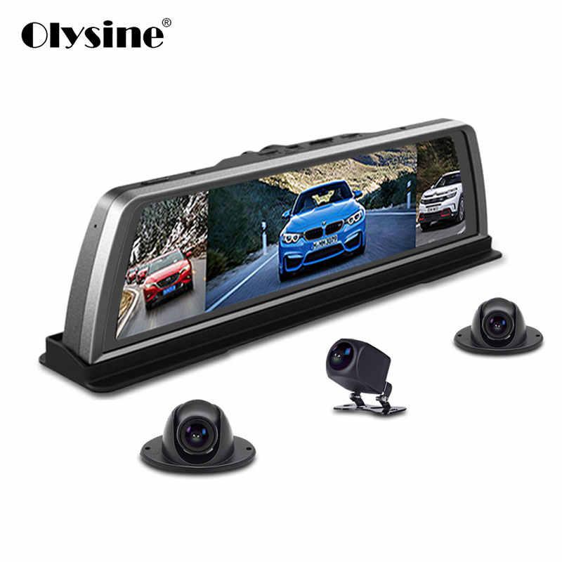"""Olysine 360 панорамный 4 канала Видеорегистраторы для автомобилей ADAS WI-FI gps Dash Cam 10 """"сенсорный экран Android навигации Dashbord Камера диск видео Регистраторы"""