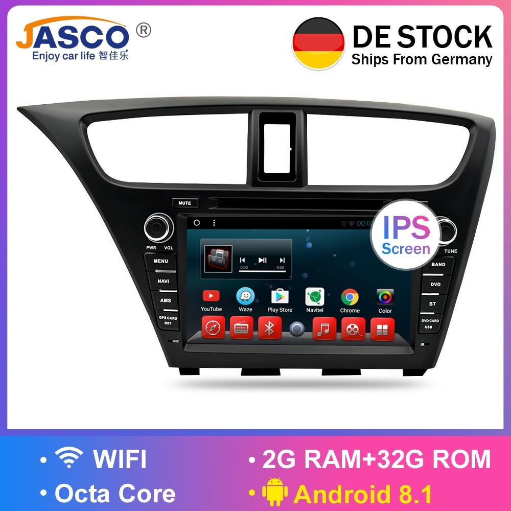 Android 8 1Car Stereo DVD For Honda Civic Hatchback 2013 Auto Radio RDS GPS Glonass Navigation