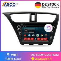 Android 8.1Car Stereo DVD For Honda Civic Hatchback 2013+Auto Radio RDS GPS Glonass Navigation Audio Video Multimedia Bluetooth