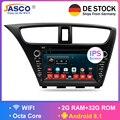 Android 8.1Car estéreo DVD para Honda Civic Hatchback 2013 + Auto Radio RDS GPS Glonass Audio Video Multimedia Bluetooth