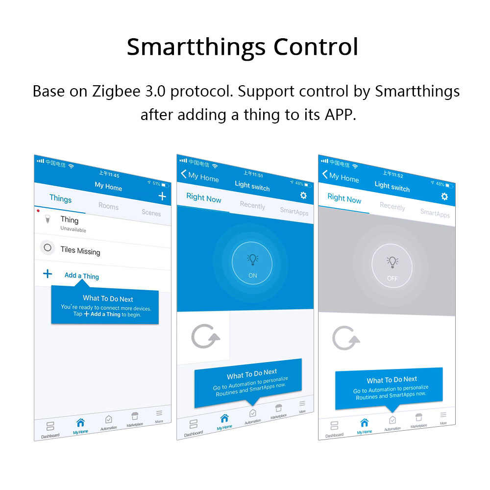 Zigbee 3 0 Switch For DIY Home Device Smart Remote Control By Smartthings  Echo Plus Suit for Most of Zigbee Hub
