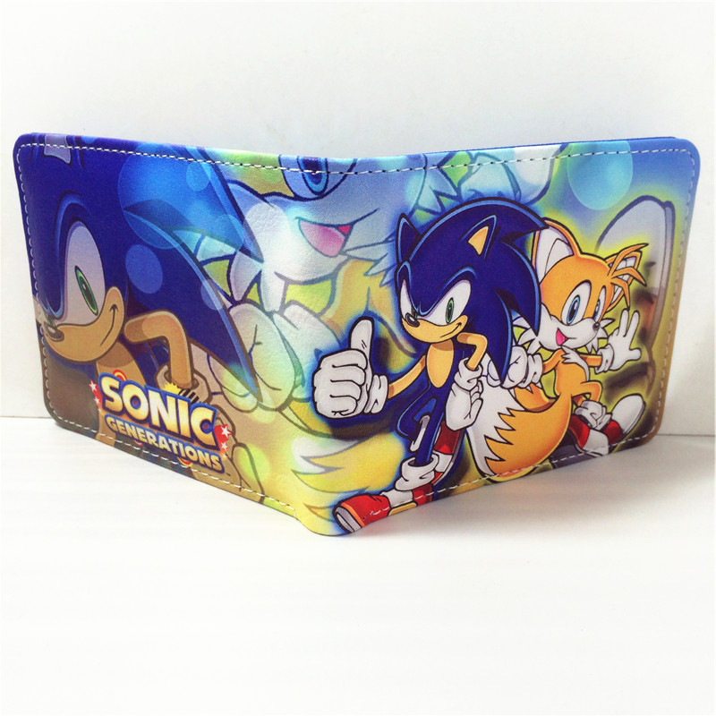 2018 Sonic the Hedgehog Anime Wallet PU Cartoon Super Sonic Wallets for Student Teenager W363 dc wonder woman wallet suicide squad purse super hero fashion cartoon wallets personalized anime purses for teens girl student