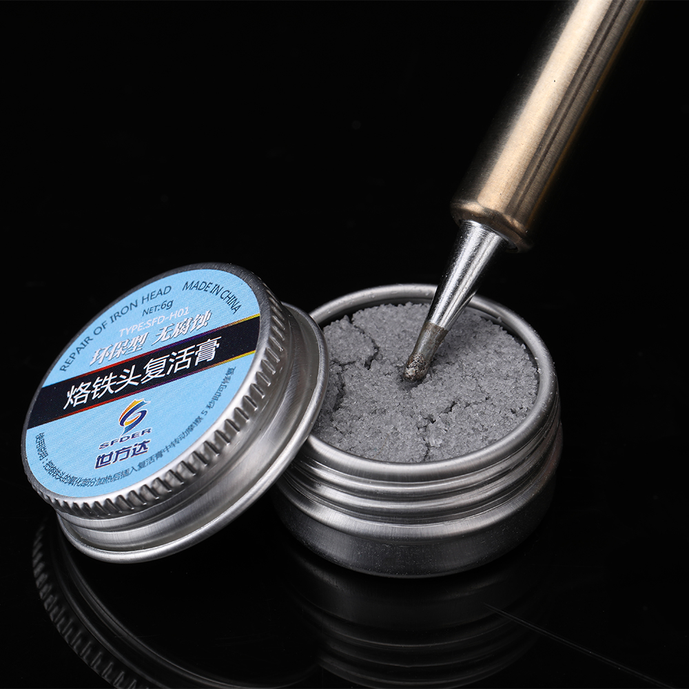 Lead-Free Electrical Soldering Iron Tip Refresher Solder Cream Clean Paste For Oxide Soldering Tip Head Resurrection