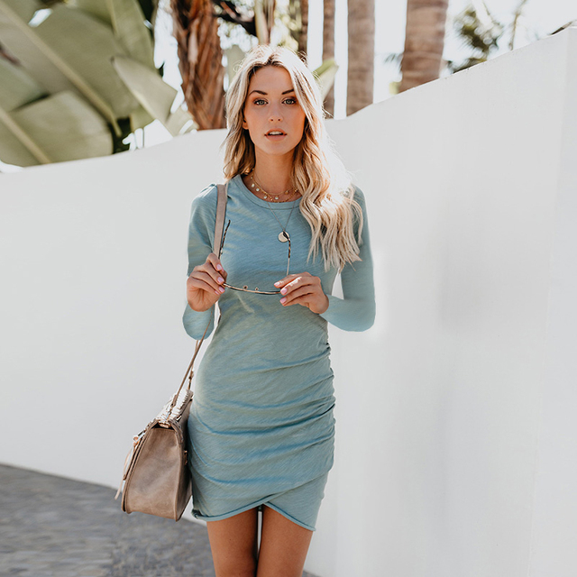 T Shirt Dress Women Autumn Sexy Kim Kardashian Ukraine Kyliejenner Dress Female Linen Boho Bodycon Sukienka Vestido Plus Size 3