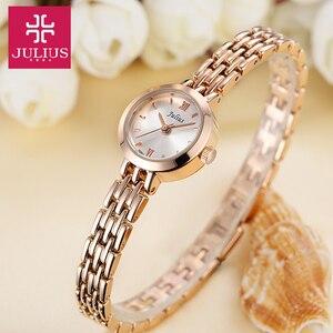 Image 3 - Julius Box reloj Mini dorado de 20mm para mujer, reloj de cuarzo japonés, pulsera pequeña, cadena, regalo de cumpleaños