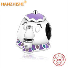 2017 Cute Lovely Teapot Charms With Mix Enamel Fits Original Pandora Charm Bracelet Authentic Jewelry 925 Sterling Silver Beads(China)