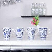 350 ml Promocional tazas tazas de cerámica del estilo Chino de porcelana azul y blanca de china de hueso taza de agua al por mayor