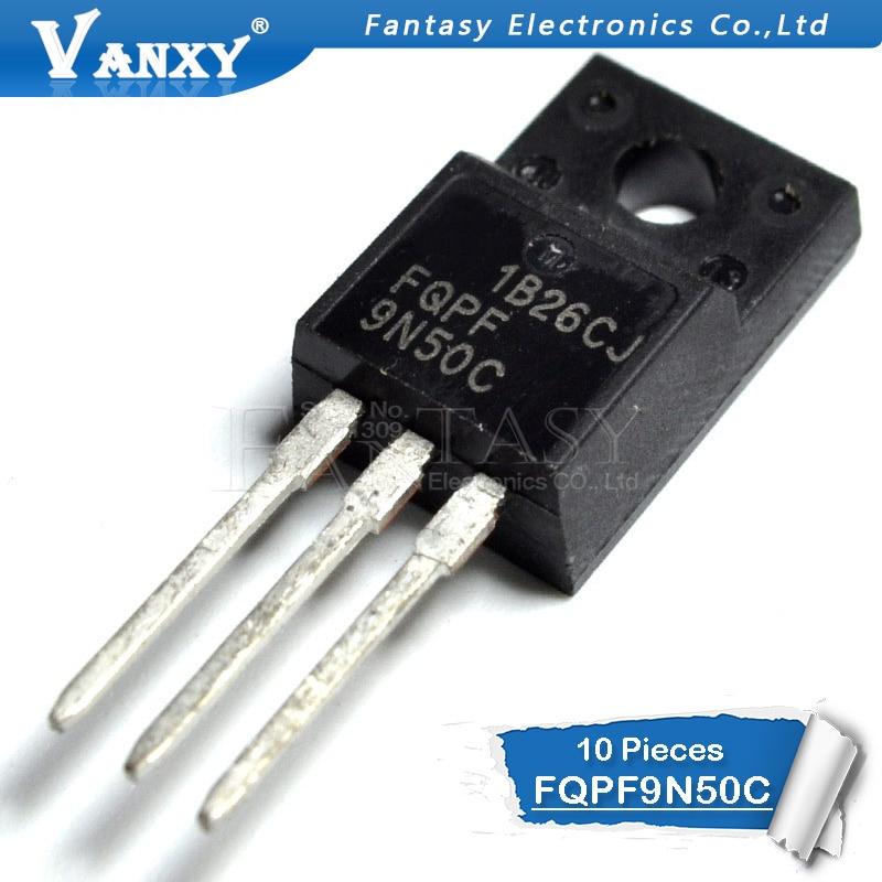 10PCS FQPF9N50C TO-220F 9N50C 9N50 TO220F FQPF9N50 New MOS FET Transistor