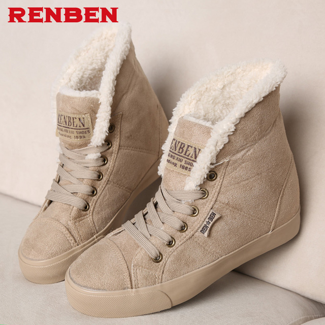 New fashion fur female warm ankle boots women boots snow boots and autumn winter women shoes #Y10308Q