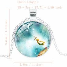Vintage Little Prince Glass Pendant Necklace for Kids