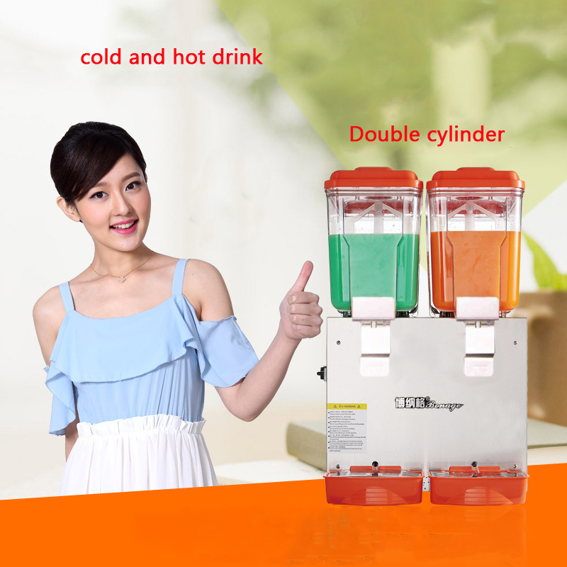 PL-230C 30L Double cylinder cold and hot drink machine Beverage dispenser juice dispenser FOR Milk tea shop edtid new high quality small commercial ice machine household ice machine tea milk shop