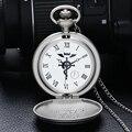 Alta Calidad Polaco Embotado de Full Metal Alchemist Reloj de Bolsillo de Los Hombres Reloj de Cuarzo P936