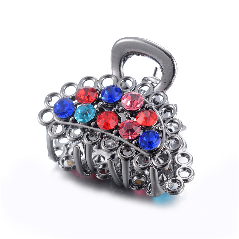 WWLB 1 Pcs Peacock Charm Ladies Large Hair Claw Clamps Crystal Small Hair Clip Butterfly Claws Clamps Accessories Gift in Hair Jewelry from Jewelry Accessories