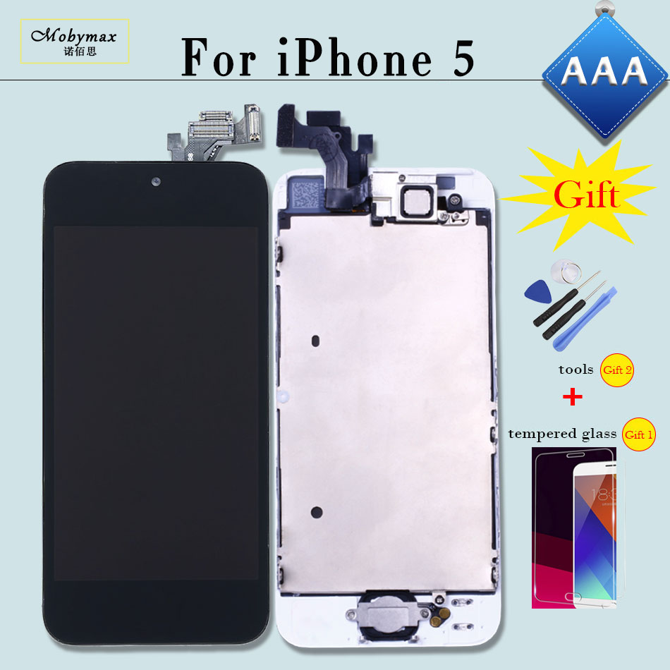 Full Assembly LCD Screen for iPhone 5 5S 5C SE 6 Replacement Touch Digitizer Pre-assembled Display 5s+Home Button+Front Camera