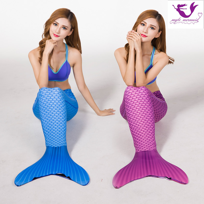 2PCS/Set New Kids Mermaid Tail Costumes Princess Dress Ariel Children Mermaid Tail Cosplay Swimmable for Girl Swimsuit Clothing hot sell fashin wigs mermaid wig adult princess ariel red wavy cosplay costume big